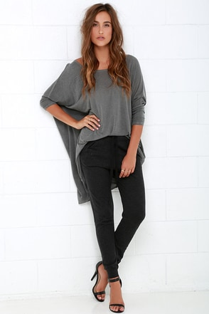 Olive & Oak Rest Up Charcoal Grey Sweatpants at Lulus.com!