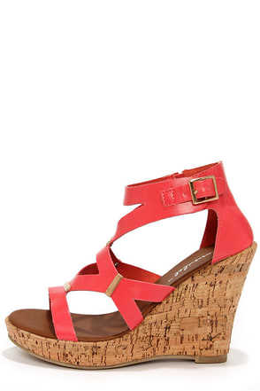 Modina 3 Beige and Gold Platform Wedge Sandals