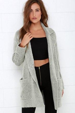 Dublin Dew Grey Oversized Sweater Jacket at Lulus.com!