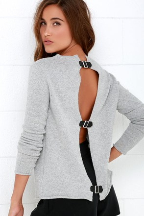 BB Dakota Jodie Light Grey Sweater at Lulus.com!