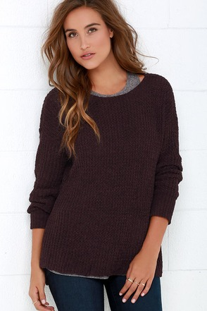 BB Dakota Giselle Dark Grey Sweater at Lulus.com!
