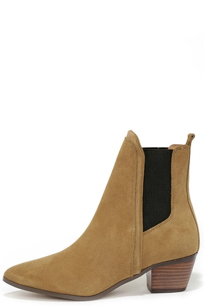 Report Signature Iggby Tan Suede Leather Chelsea Boots at Lulus.com!
