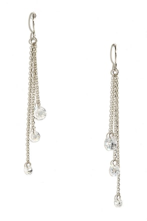 Delicate Balance Gold Rhinestone Earrings at Lulus.com!