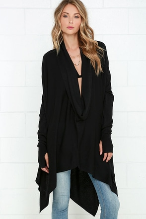 Willow in the Wind Black Sweater Top at Lulus.com!