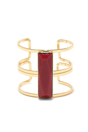 Stepping Stone Red and Gold Bracelet at Lulus.com!