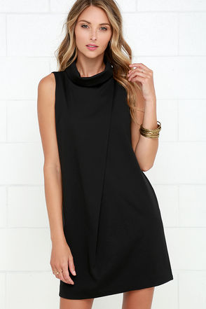 Architecturally Inclined Black Dress at Lulus.com!