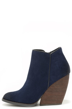 Very Volatile Whitby Wine Suede Leather Wedge Booties at Lulus.com!