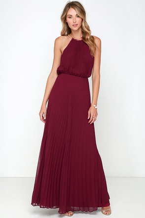 Bariano Melissa Burgundy Maxi Dress at Lulus.com!