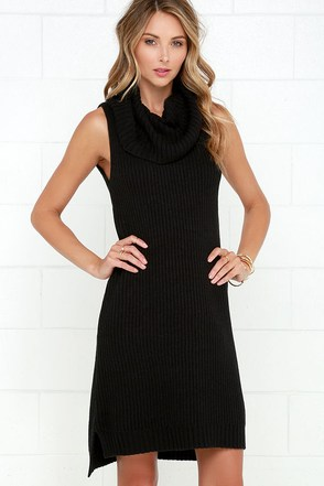 BB Dakota Marisa Black Sweater Dress at Lulus.com!