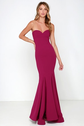 Sorella Wine Red Strapless Maxi Dress at Lulus.com!