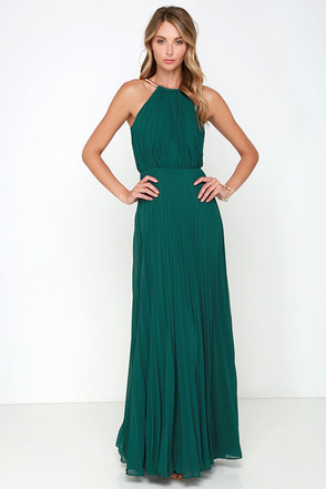 Bariano Melissa Dark Green Maxi Dress at Lulus.com!