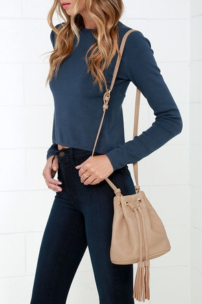 Jam Session Beige Mini Bucket Bag at Lulus.com!