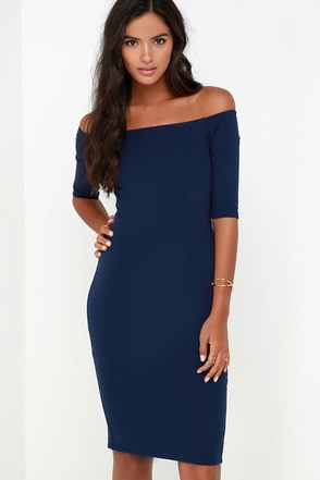 Girl Can't Help It Wine Red Off-the-Shoulder Midi Dress at Lulus.com!