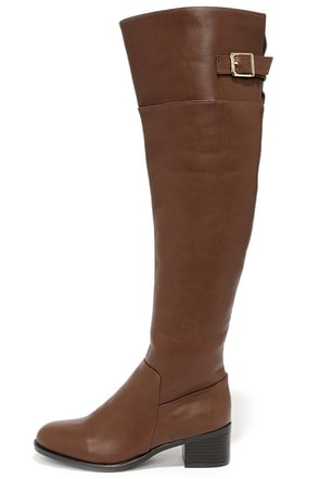 All Over It Tan Over the Knee Boots at Lulus.com!