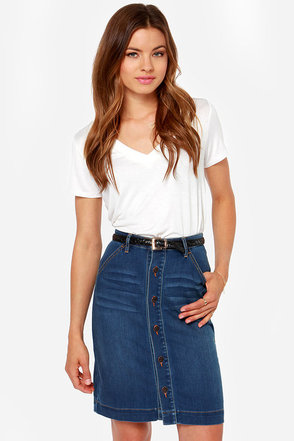 Dittos Emma Denim Midi Skirt