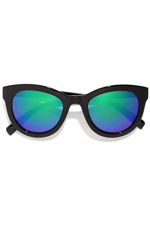 Hatch Black Mirrored Sunglasses