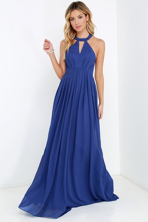 Bariano Tender Moment Royal Blue Maxi Dress at Lulus.com!