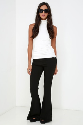 Fair's Flare Black Flare Pants at Lulus.com!