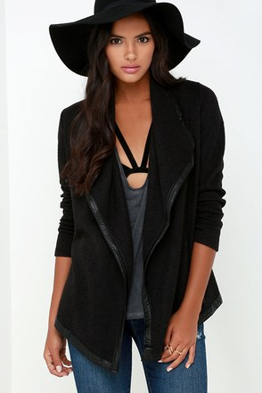Jack by BB Dakota Glory Black Sweater Jacket at Lulus.com!