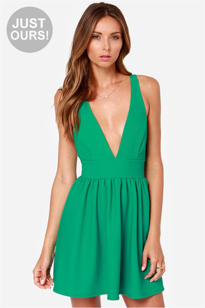 LULUS Exclusive High Score Green Dress