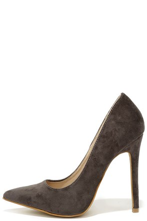 Precisely Right Olive Green Suede Pointed Pumps at Lulus.com!