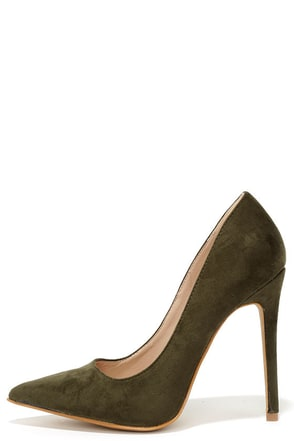 Precisely Right Grey Suede Pointed Pumps at Lulus.com!