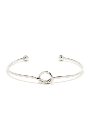 Let's Tie the Knot Silver Bracelet at Lulus.com!