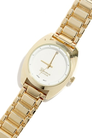 Second Hand News Gold and White Watch at Lulus.com!