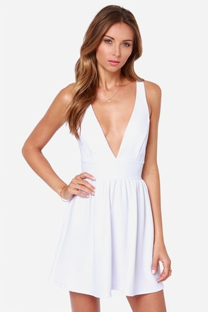 High Score Ivory Dress at Lulus.com!