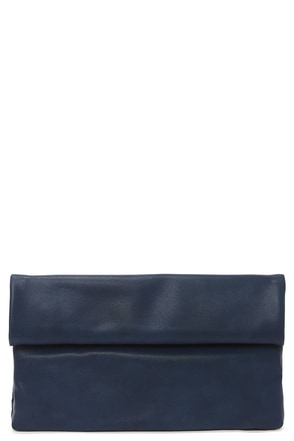 How We Roll Navy Blue Clutch