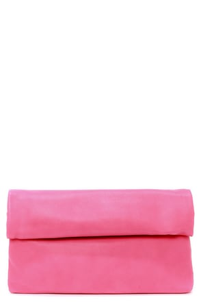 How We Roll Fuchsia Clutch