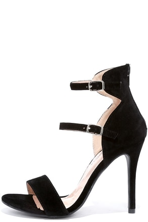 Change in Altitude Black Suede Dress Sandals at Lulus.com!