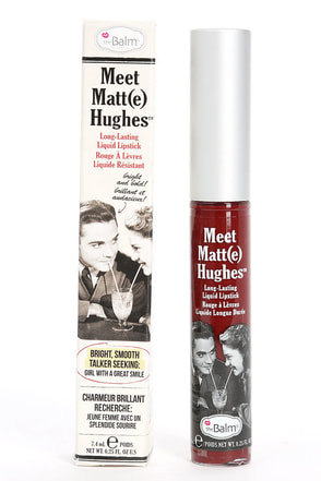 The Balm Meet Matt(e) Hughes Adoring Wine Red Liquid Lipstick at Lulus.com!