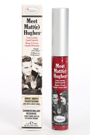 The Balm Meet Matt(e) Hughes Loyal Red Liquid Lipstick at Lulus.com!