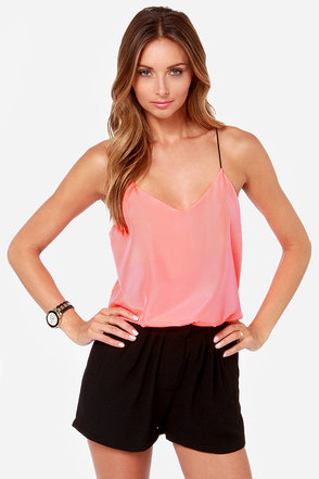 Drama Queen Neon Coral Top