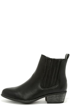 Barista Black Chelsea Boots at Lulus.com!