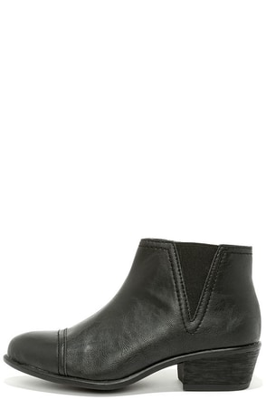 Two Steppin' Black Ankle Boots at Lulus.com!