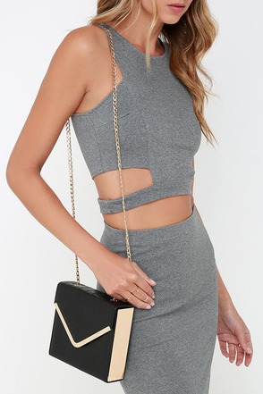Touch Base Black Purse at Lulus.com!
