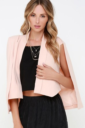 Elliatt Inspire Peach Cape at Lulus.com!