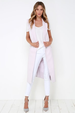 The Fifth Label New Moon Lavender Vest at Lulus.com!