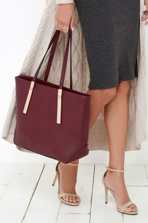 Prima Donna Girl Burgundy Tote at Lulus.com!