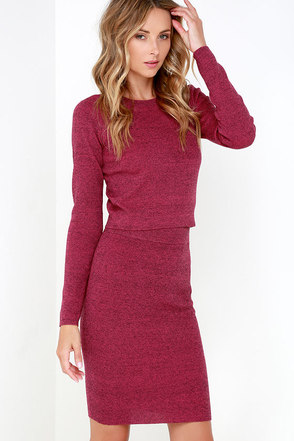 In a Heartbeat Black and Berry Pink Two-Piece Dress at Lulus.com!
