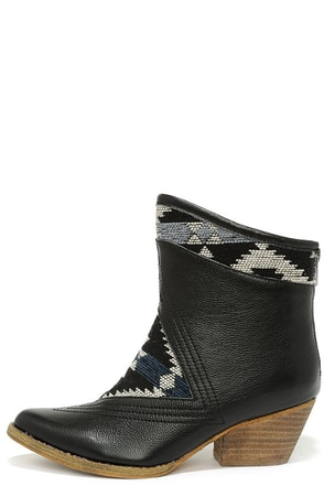 Sbicca Sookies Black Southwest Ankle Boots at Lulus.com!