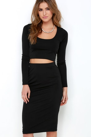 Love On Top Black Two-Piece Dress at Lulus.com!