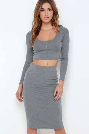 Love On Top Grey Two-Piece Dress at Lulus.com!