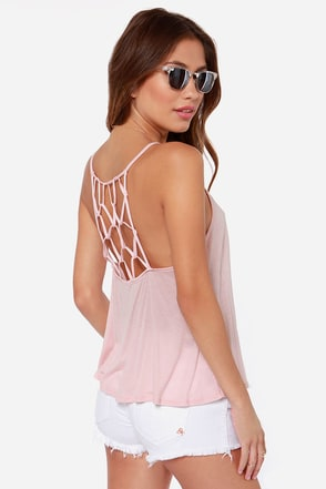 Net Amused Blush Pink Tank Top