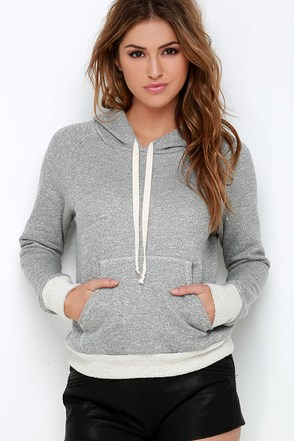Project Social T Morning Meditation Heather Grey Hoodie at Lulus.com!