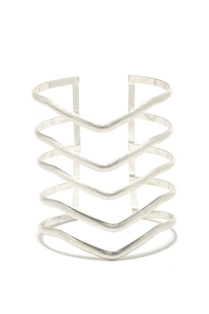V Formation Silver Bracelet at Lulus.com!
