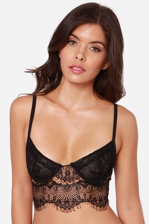 Rhythm of the Night Black Lace Bralette
