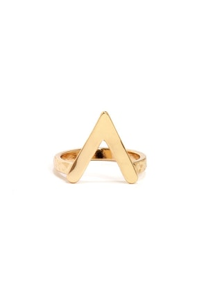 Until V Meet Again Gold Knuckle Ring